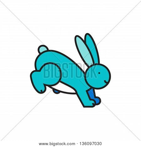 Hare. Animal, rabbit, large-eared creature. Animal concept. Can be used for topics like animal, wildlife, zoology