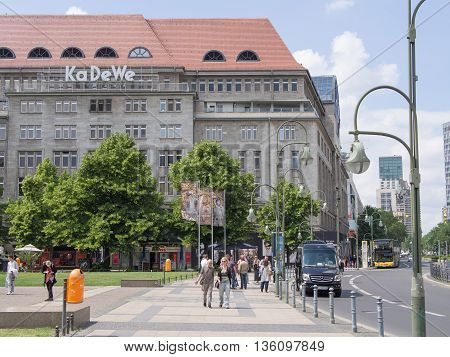 BERLIN GERMANY - JUNE 19 2016: KaDeWe Department Store of the West