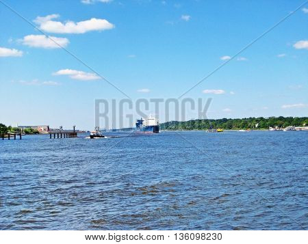 River Elbe, Hamburg, Germany
