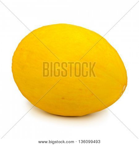 yellow melon isolated on white