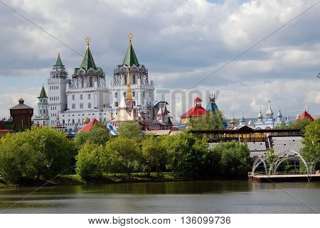 MOSCOW - JUNE 08, 2016: Kremlin in Izmailovo, Moscow. Popular landmark. Color photo