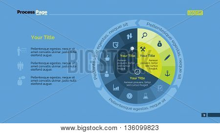 Pie diagram. Presentation slide. Element of chart, presentation, diagram. Concept for infographics, business templates, presentation, reports. Can be used for topics like analysis, progress, economics