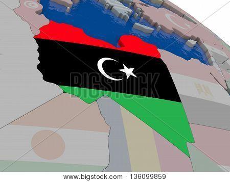 Libya With Flag