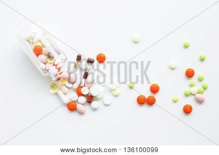 Pills On White Backgroud