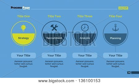 Stage infographic circle diagram. Element of chart, presentation, layout. Concept for business infographics, presentation templates, reports. Can be used for topics like marketing, strategy, analysis