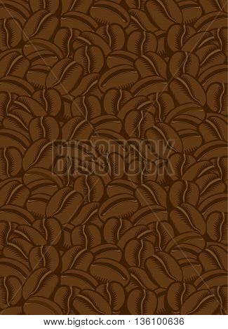 vector texture background of the coffee beans