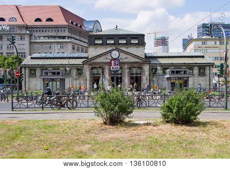 BERLIN GERMANY - JUNE 19 2016: Wittenbergplatz U-Bahn station