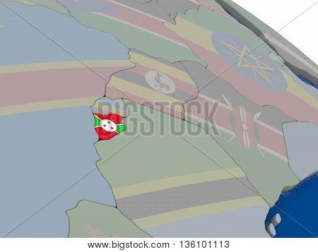 Burundi With Flag