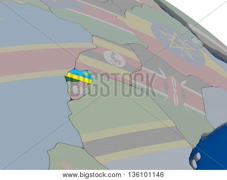 Rwanda With Flag