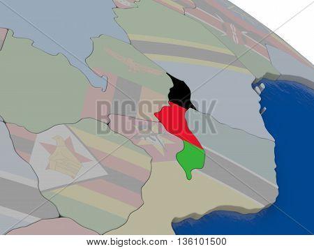 Malawi With Flag