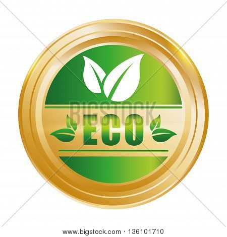 Go green and ecology design, vector illustration graphic.