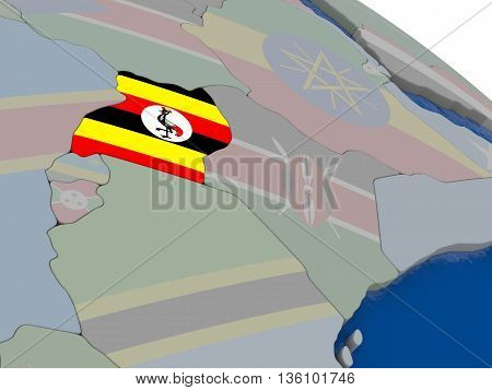 Uganda With Flag