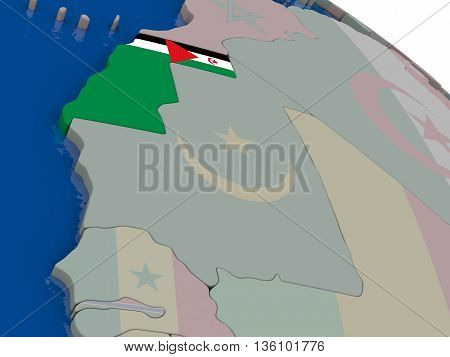 Westarn Sahara With Flag