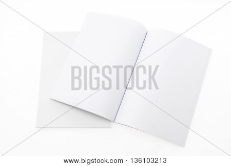 Blank catalog,brochure, magazines,book mock up on white background