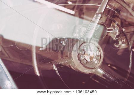 Vintage car ( Filtered image processed vintage effect. )