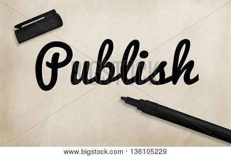 Publish Writing Editing Journalism Concept