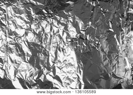 Shiny silver white grey gray paper foil decorative texture background