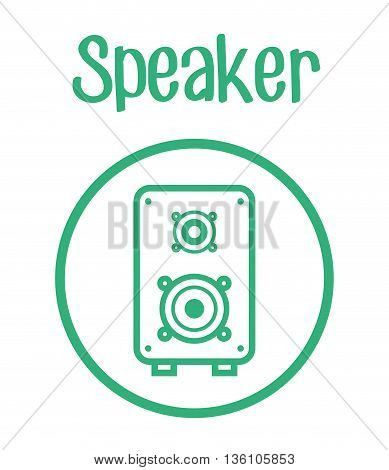 Music speaker equipment and technology graphic design, vector illustration