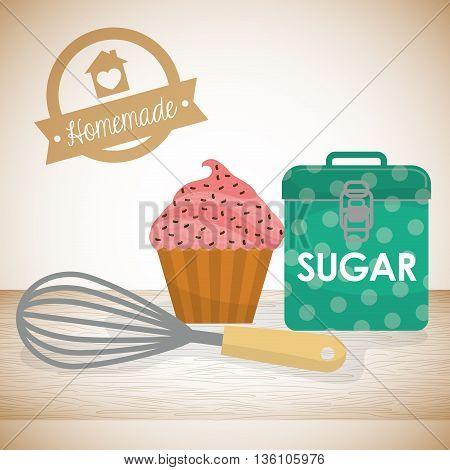 Homemade dessert recipe graphic design, vector illustration eps10