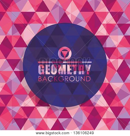 Geometry wallpaper or background, vector illustration eps10
