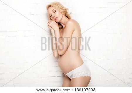 Beautiful Pregnant Woman Posing.