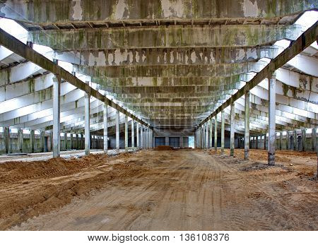 internal construction the construction of the livestock facility during the installation process