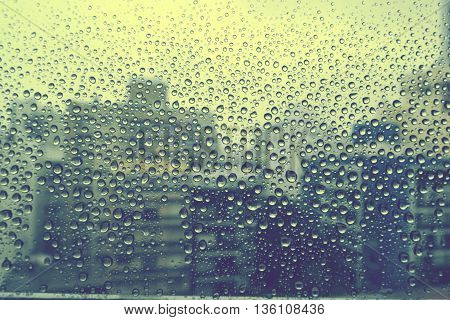 abstract view through a window with rain