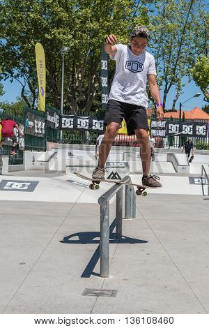 Manuel Santos During The Dc Skate Challenge