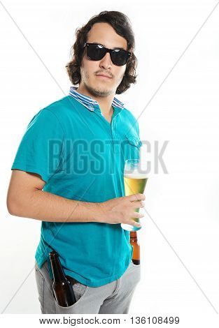 Man With Beer Glass