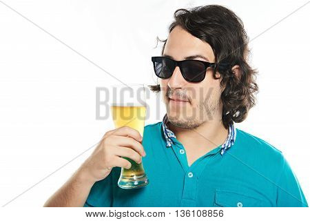Man In Sunglasses With Beer