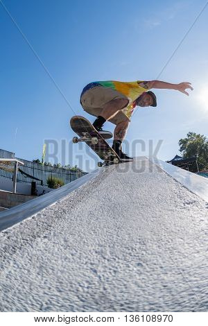 Francisco Lopez During The Dc Skate Challenge