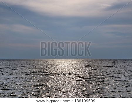 Day ends in Port Dalhousie on shore of Lake Ontario 26 June 21016 Canada