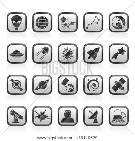 astronomy and space icons  - vector icon set