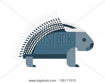 Vector porcupine icon.