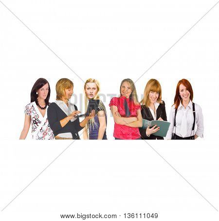 Colleagues Together Isolated Groups