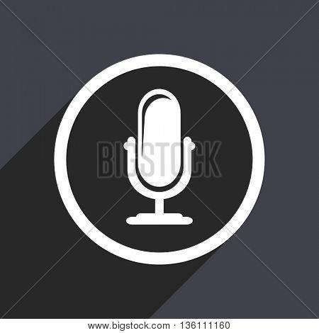 Podcast flat design web vector icon