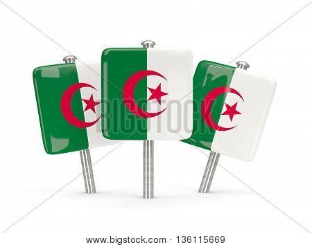 Flag Of Algeria, Three Square Pins