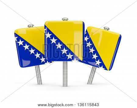 Flag Of Bosnia And Herzegovina, Three Square Pins