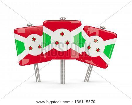 Flag Of Burundi, Three Square Pins