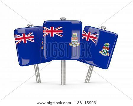 Flag Of Cayman Islands, Three Square Pins