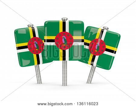 Flag Of Dominica, Three Square Pins