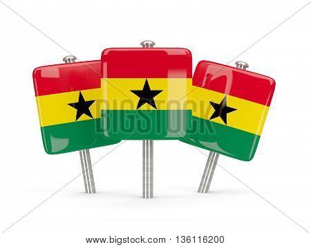 Flag Of Ghana, Three Square Pins
