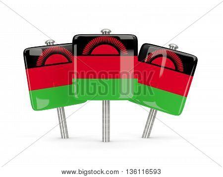 Flag Of Malawi, Three Square Pins