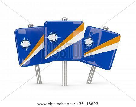 Flag Of Marshall Islands, Three Square Pins