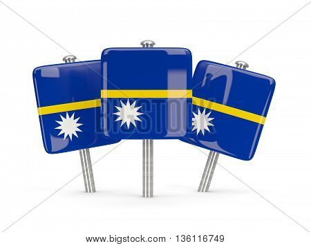 Flag Of Nauru, Three Square Pins