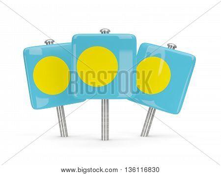 Flag Of Palau, Three Square Pins