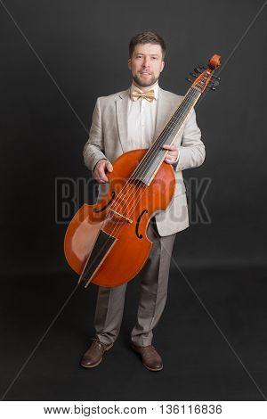portrait of a man with a viola da gamba