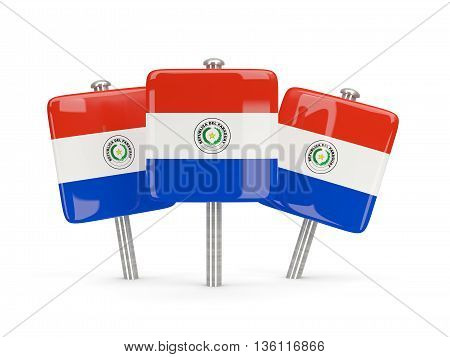 Flag Of Paraguay, Three Square Pins
