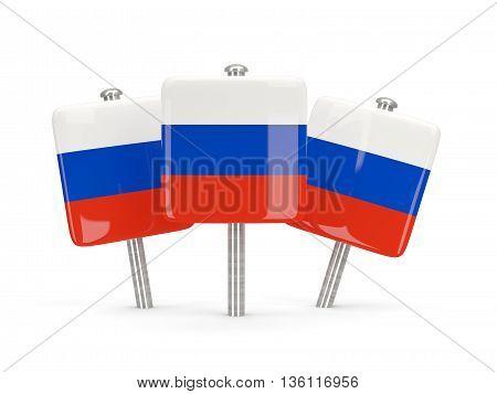 Flag Of Russia, Three Square Pins