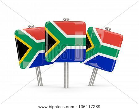 Flag Of South Africa, Three Square Pins